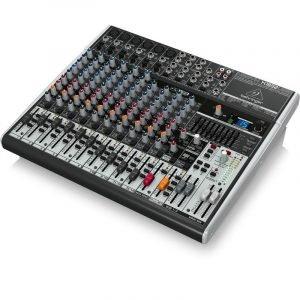 מיקסר 18 ערוצים הכולל קומפרסור לערוצי המיקרופון, מולטי אפקט, EQ גרפי וחיבור למחשב להשמעה/הקלטה