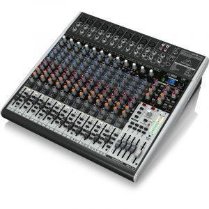 מיקסר 24 ערוצים הכולל קומפרסור לערוצי המיקרופון, מולטי אפקט וחיבור למחשב להשמעה/הקלטה
