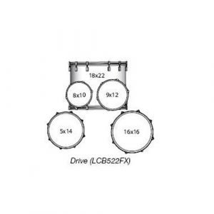 """מערכת """"22 ללא אביזרים ומצילות LUDWIG ELEMENT LCB522FX SR BIRCH"""