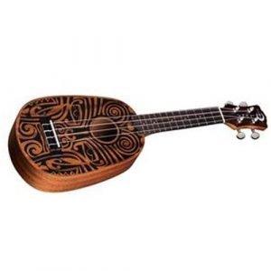 יוקללי סופרן – Tribal Mahogany Pineapple עם עיטורים שבטיים מבית Luna Guitars