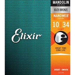 סט מיתרים למנדולינה ELIXIR NANOWEB 0.10