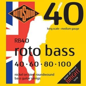 סט מיתרים 0.40 ניקל לגיטרה בס ROTOSOUND RB40