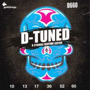 סט מיתרים לגיטרה חשמלית 0.10-0.60 GALLI D-666 D-TUNE