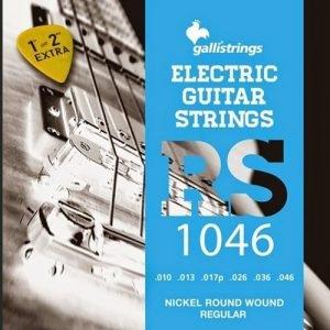 סט מיתרים לגיטרה חשמלית 0.10-0.46 GALLI RS1046 extra E and B