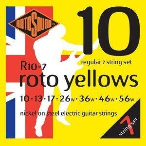 סט 0.10 לגיטרה חשמלית 7 מיתרים ROTOSOUND R10-7