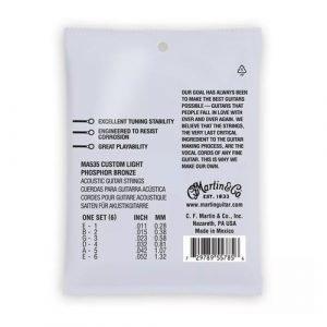 סט מיתרים 0.11 לאקוסטית MARTIN SP Phosphor Bronze AUTHENTIC MA535