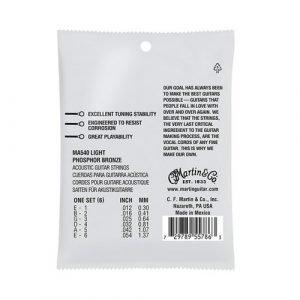 סט מיתרים 0.12 לאקוסטית MARTIN SP Phosphor Bronze AUTHENTIC MA540