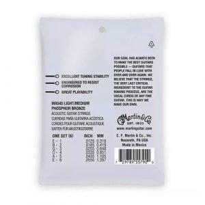 סט מיתרים 0.125 לאקוסטית MARTIN SP Phosphor Bronze AUTHENTIC MA545